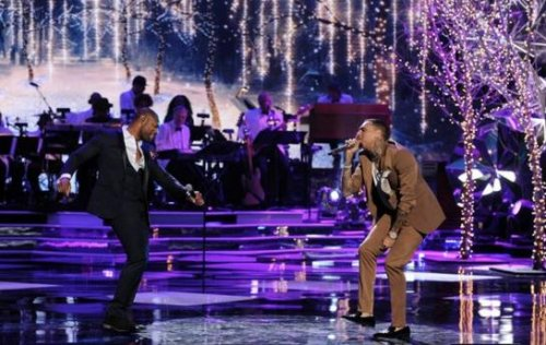 Chris Brown says he was 'under the weather' during 'White Hot Holidays' performance