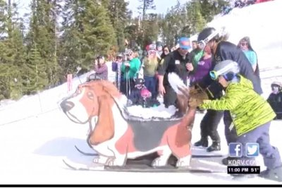 Dummies sent downhill for Colorado skiing contest