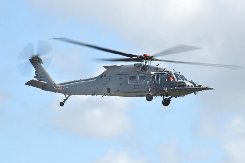 Air Force pilot tests modified Black Hawk helicopter for first time