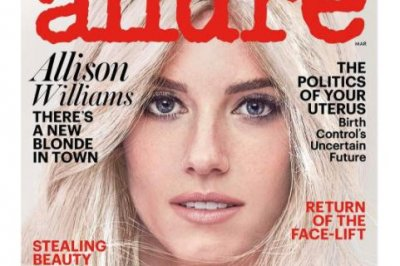 Allison Williams goes blonde for Allure magazine