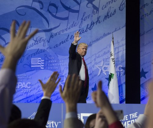 Trump thanks cheering CPAC attendees for helping elect him president