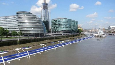 London could soon have a floating bike lane on the River Thames