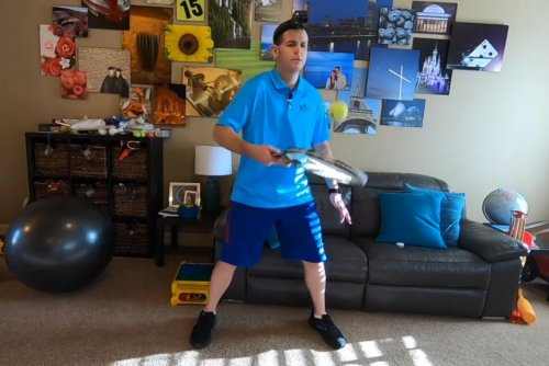 Idaho man breaks two Guinness records hitting a tennis ball