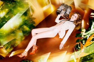 Nicole Kidman poses topless for Jimmy Choo