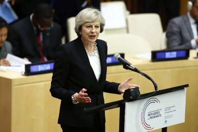 British Prime Minister Theresa May rebukes U.S. over Israel criticism