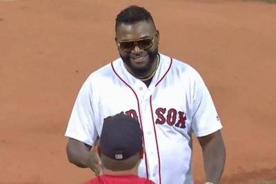 Boston Red Sox great David Ortiz throws out first pitch at Fenway Park