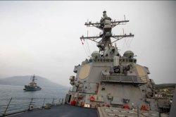 Destroyer USS Roosevelt returns to port in Rota, Spain