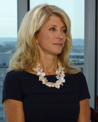 Wendy Davis welcomed with 'Abortion Barbie' posters in California