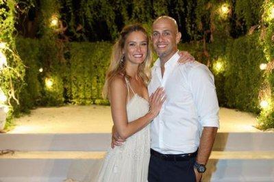 Bar Refaeli shares wedding photo with Adi Ezra