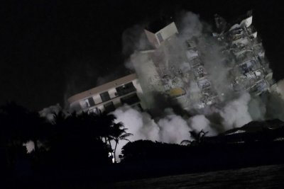, Remaining Surfside condo building demolished before storm, Forex-News, Forex-News