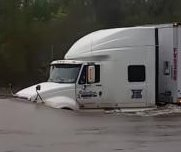 Semi truck caught on camera crossing South Carolina flood waters