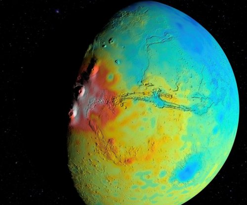 New Martian map: Gravity data suggests Red Planet has a porous crust