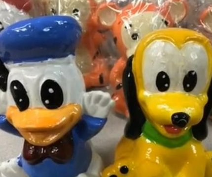 Meth found hidden in 500 wax Disney figurines