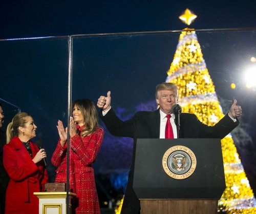 Trumps light National Christmas Tree for first time