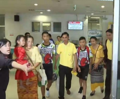 Boys rescued from Thailand cave leave hospital