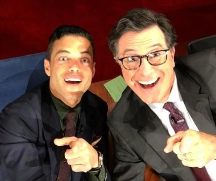 Rami Malek posts first Instagram with Stephen Colbert's help