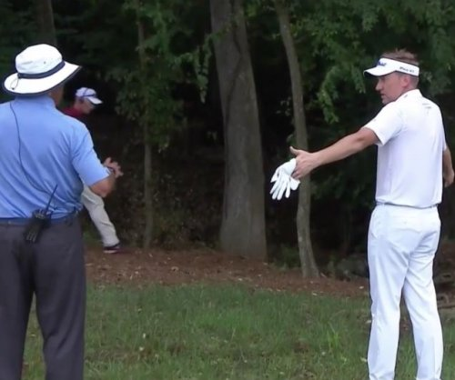 PGA Championship 2017: Ian Poulter hits terrible drive, gets snarky with official
