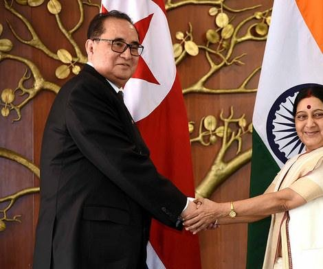 India and North Korea foreign ministers discuss food aid