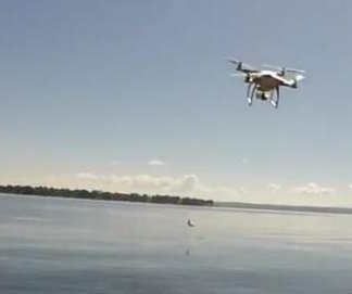 Angler uses drone to catch smallmouth bass