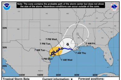 Governors issue disaster declarations as Tropical Storm Beta soaks Texas