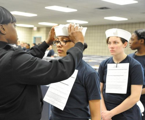 Female U.S. Navy recruits the first to wear iconic 'dixie cup' headwear