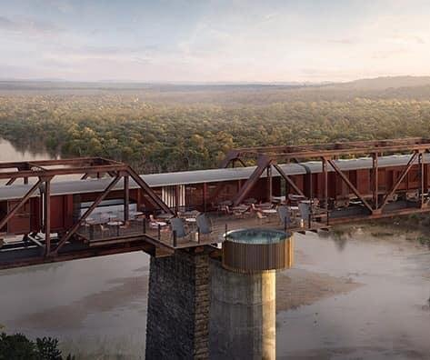 Train parked on bridge in South Africa becomes luxury hotel