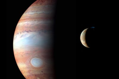 Astronomers get rare view of three moons casting shadows on Jupiter