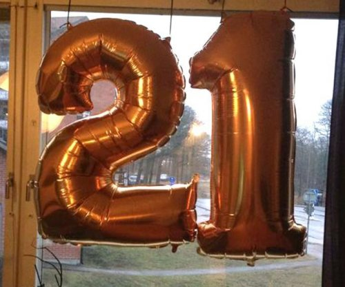 Police confuse '21' birthday balloons for Islamic State initials