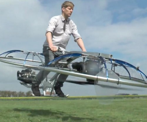 British inventor builds homemade hover bike
