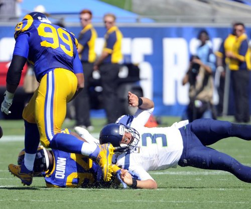 Los Angeles Rams sack Seattle Seahawks in L.A. home opener