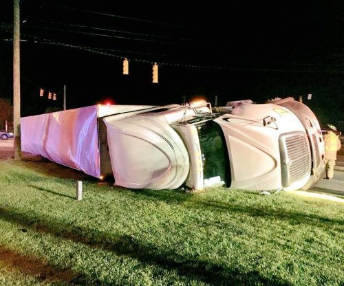 Truck overturns in North Carolina, loses 44,000 pounds of vodka