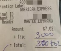 Customer orders one beer, leaves $3,000 tip