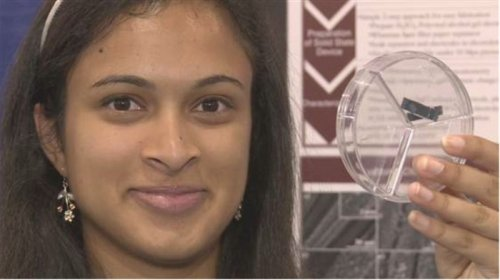 Young scientist wins $50,000 for quick phone-charging invention