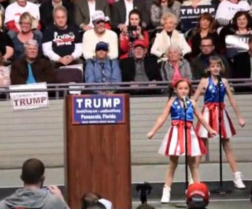 'USA Freedom Kids' perform at Florida Trump rally