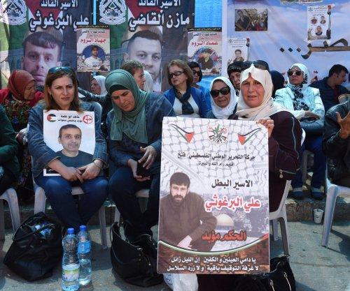 Families of hunger strikers shut down U.N. office in Ramallah