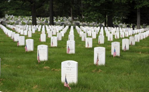 Lawn care pros groom national cemetery