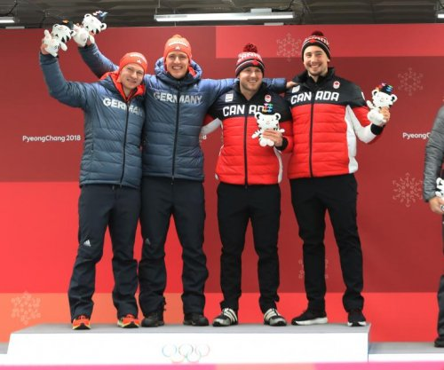 Canada, Germany share two-man bobsled gold medal