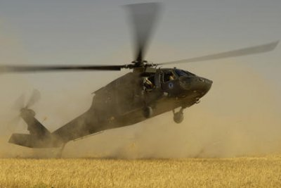 Army chopper blows over tent at Calif. base; 22 injured