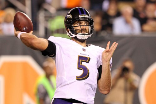 Baltimore Ravens QBs Joe Flacco, Lamar Jackson sit out practice