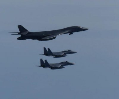 B-1B Lancer bombers arrive in Guam for exercises