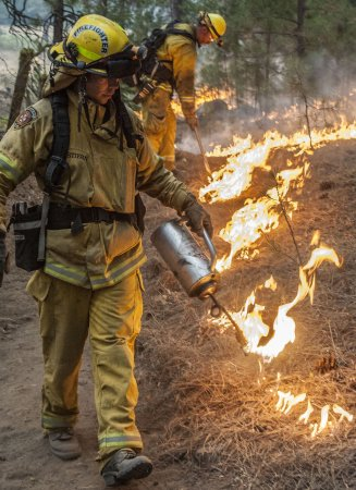 King Fire grows by only 5,000 acres overnnight as temperature dips
