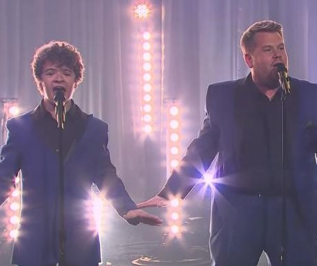 'Stranger Things' cast form Motown group with James Corden on 'Late Late Show'
