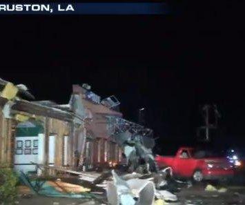 Tornado kills 2 in Louisiana, damages LA Tech campus