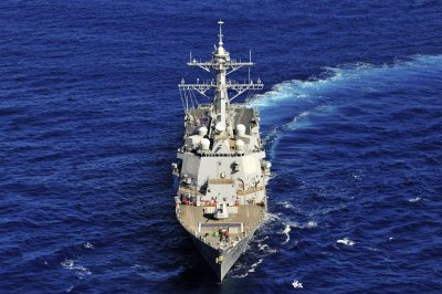 Russia says it blocked U.S. warship from entering its waters