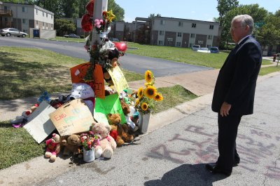Michael Brown's memorial on fire under mysterious circumstances