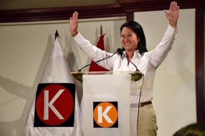 Daughter of Peru's jailed former leader winning first-round election