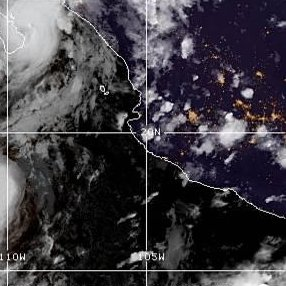 Hurricane Lorena hugging coast of Baja California peninsula