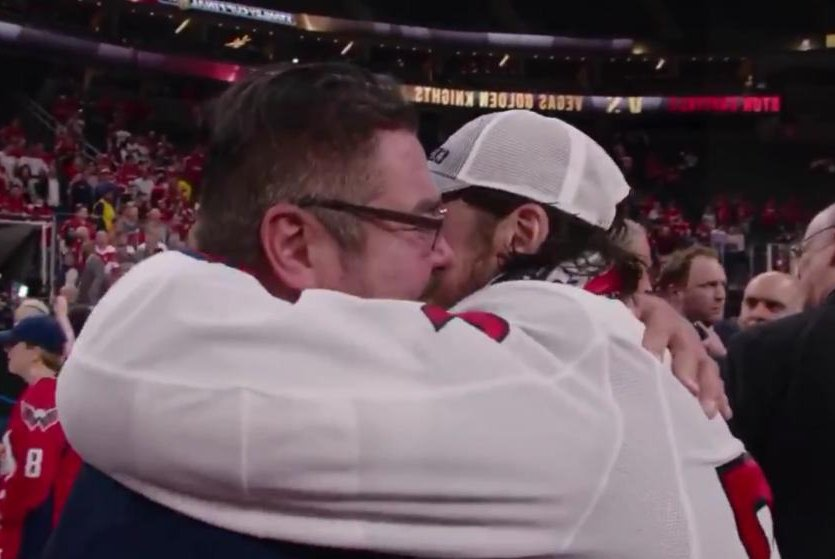 Watch  Caps  Oshie brought to tears while hugging dad with Alzheimer s -  UPI.com 6bf69db73790