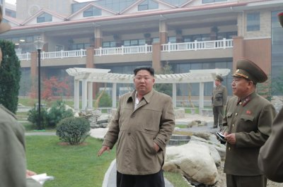 Kim Jong Un warns workers during Yangdok Hot Springs visit