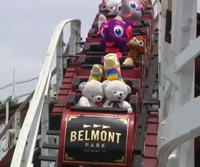 Stuffed animals ride San Diego roller coaster amid COVID-19